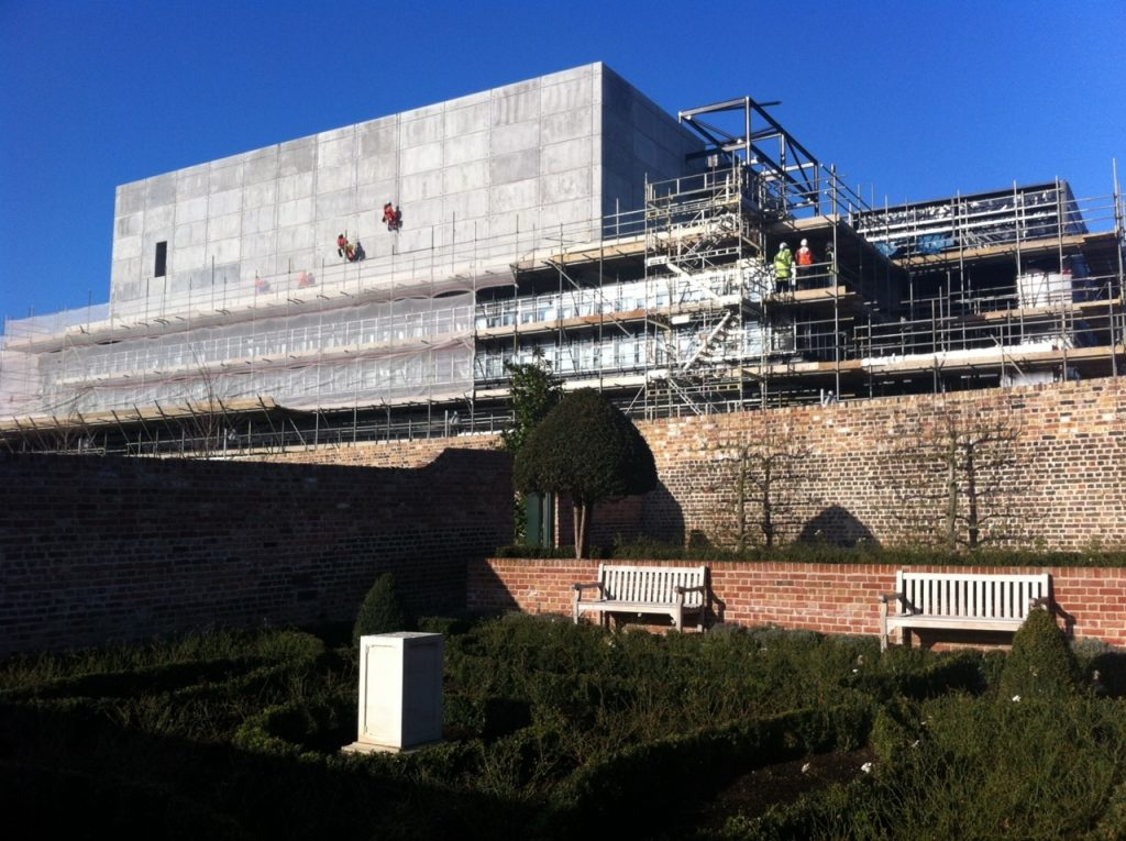 The Backstage Centre under construction at High House Production Park in 2012